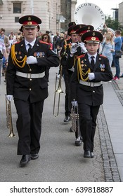 """BELGRADE-MAY 14.March of Cadet Music Corps on """"Concert of Moscow Cadet Music Corps"""".On May 14,2017 in Belgrade,Serbia"""