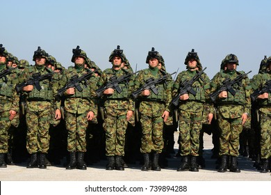 """BELGRADE-OCTOBER 20:Modern equipment of the Serbian Armed Forces on """"A presentation of  the Army of Serbia-FREEDOM 2017 """".October 20,2017 in Batajnica, Belgrade, Serbia"""