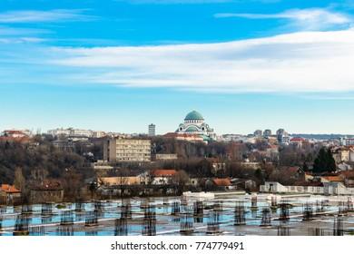 Belgrade,Serbia 14.12.2017. Church of Saint Sava