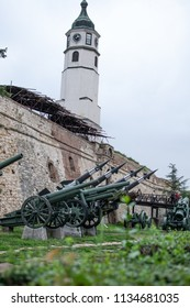 Belgrade,Serbia-July 11,2018.Image shows the exhibition of weapons of World War 1&2 at the Kalemegdan fortress