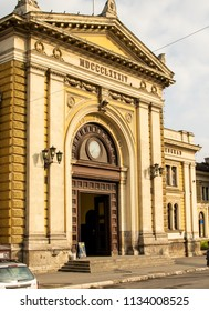 Belgrade,Serbia-July 12,2018.Image shows the entrance of the central train station.