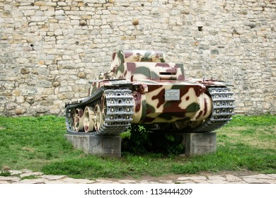 Belgrade,Serbia-July 12,2018.Image shows a PzKpfw I  Ausf German light tank from the World War 1 at the outdoor museum of Kalemegdan fortress.