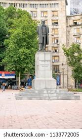 Belgrade,Serbia-July 12,2018.Image shows the statue of Nikola Pasic former politician.