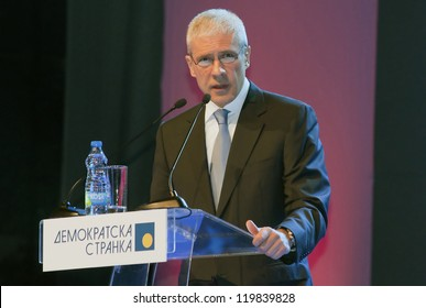 BELGRADE,SERBIA-NOVEMBER 25:Boris Tadic speaks at the Democratic Party Assembly. November 25,2012 in Belgrade,Serbia
