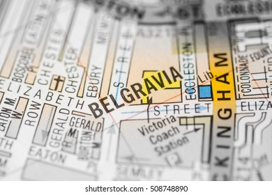 Belgravia. London, UK map.