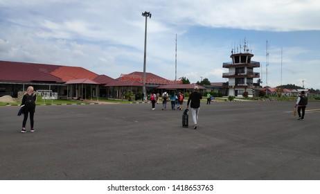 Belitung, Indonesia - 4 June, 2019: H.A.S. Hanandjoeddin Airport