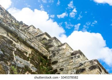 Belize, Central America, Altun Ha Temple.