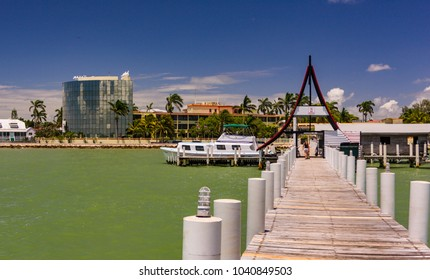 BELIZE CITY, BELIZE - AUGUST 14, 2008: Dock at Radisson Hotel.