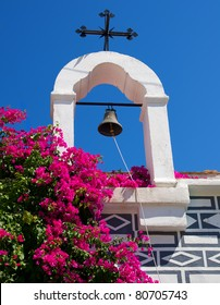 bell with Christian cross on the island of Chios