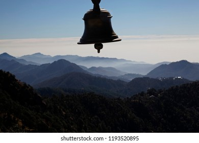 A bell at Golu Devta Temple, Golu Devata Temple, Temple of God Golu,  Ghorakhal, Uttarakhand, India