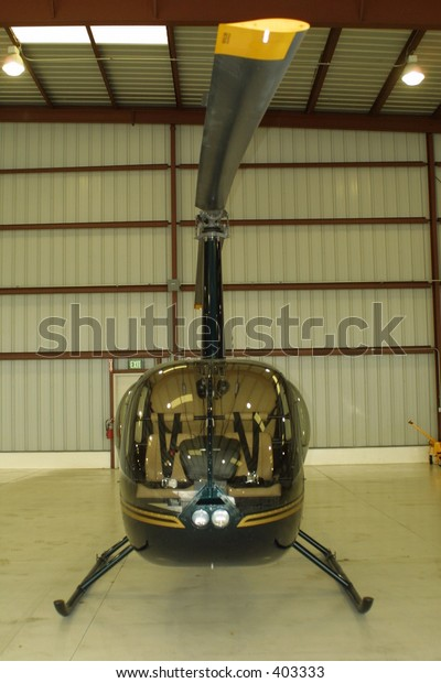 Bell Helicopter in the hanger