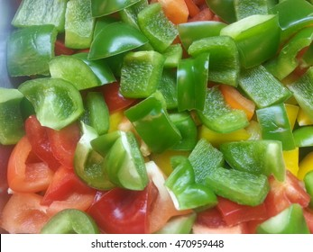Bell Pepper Slice , Red , Green