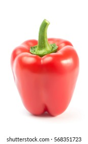 Bell peppers isolated on white background closeup