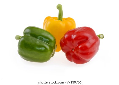 bell peppers isolated on a white background