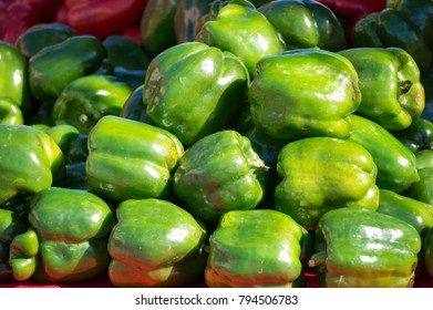 Bell Peppers for sale at a local farmers market in St. Pete Beach, Florida