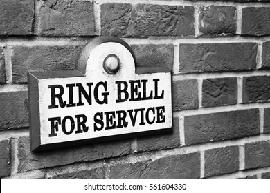Bell to ring with invitation to do so. Great for inviting your customers to communicate with you!