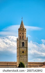 Bell tower of the Cathedral of Atri, Italy