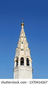 Bell tower of the church of St. Nicholas (1779), St. Nicholas Convent, Privolzhsk town, Ivanovo region, Russia