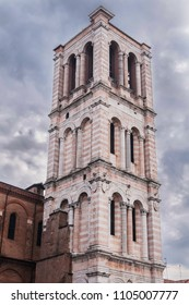 bell tower of the duomo of ferrara