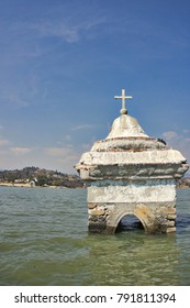 The bell tower of a flooded church, Villa del Carbon, Mexico