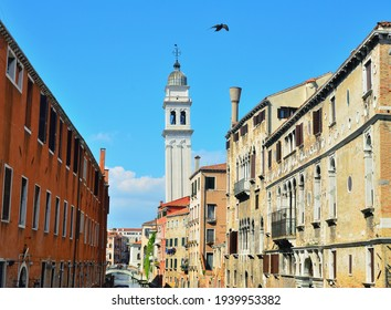 Bell Tower of Greek Church of Saint George in Venice