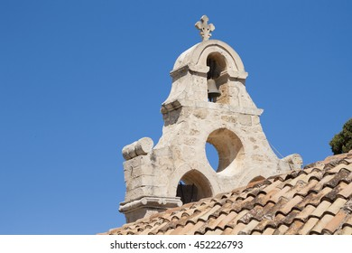 A bell tower of Greek Orthodox church on Crete island, Greece