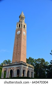 Bell Tower inside University of North Carolina, Chapel Hill, USA.