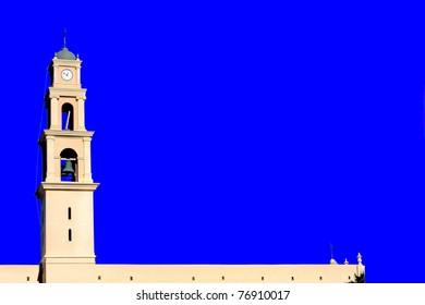 bell tower in Jaffa