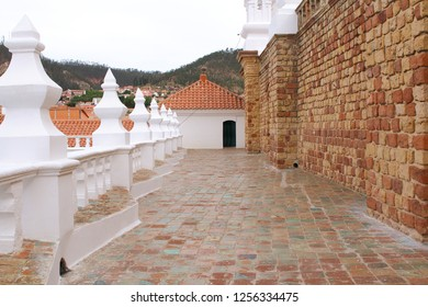 Bell tower and kupola of San Felipe Neri Monastery at Sucre, Bolivia.  Colonial City