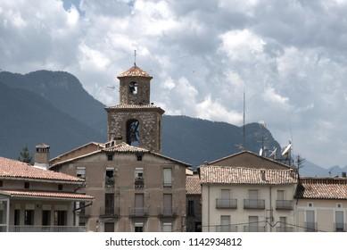The bell tower of La Pobla de Lillet