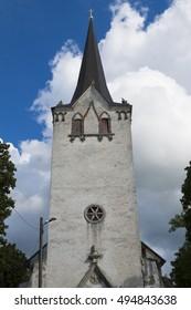 Bell tower of Lutheran Church in Keila, Estonia