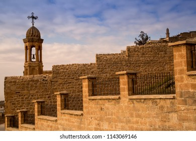 A bell tower in Mardin,Midyat. Midyat is a old town in Turkey. A town of muslims and syriac people who living together.