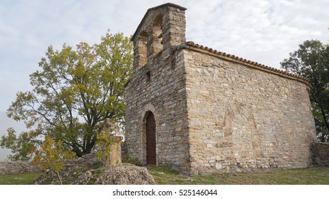 Bell tower of medieval romanesque church.