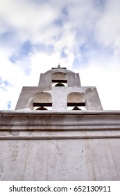 Bell tower, Mission San Xavier del Bac, Arizona, USA