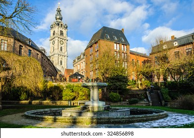 Bell tower in Mons, the European Capital of Culture 2015, Belgium