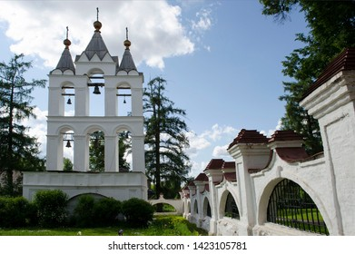 Bell tower of Preobrazhensky (Transfiguration)  Cathedral in museum-estate Bolshie Vyazemy Moscow region Russia