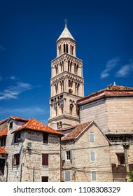 The bell tower of Saint Domnius cathedral in Split, Croatia.