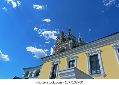 Bell tower in Savvino-Storozhevski monastery, located in Zvenigorod, an old town in Moscow region, Russia
