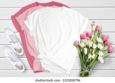 Bella Canvas Bundle Unisex 3001T-shirt Mockup, 15 High Quality Mockup Bundle On Wooden Background, 15 colors , Tshirt mockup, commercial use