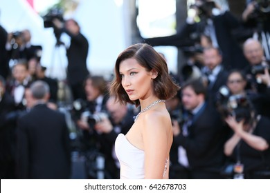 Bella Hadid attends the 'Ismael's Ghosts (Les Fantomes d'Ismael)' screening and Opening Gala during the 70th annual Cannes Film Festival at Palais  on May 17, 2017 in Cannes, France.