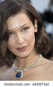 Bella Hadid attends the 'Ismael's Ghosts (Les Fantomes d'Ismael)' screening and Opening Gala during the 70th annual Cannes Film Festival at Palais des Festivals on May 17, 2017 in Cannes, France.