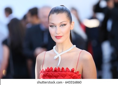 Bella Hadid attends the 'Okja' screening during the 70th Cannes Film Festival at Palais des Festivals on May 19, 2017 in Cannes, France.