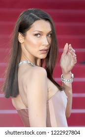 Bella Hadid attends the screening of Ash Is The Purest White during the 71st annual Cannes Film Festival at Palais des Festivals on May 11, 2018 in Cannes, France.
