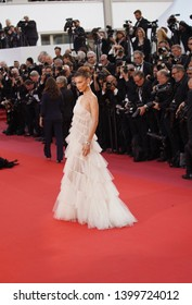 """Bella Hadid attends the screening of  """"Rocket Man"""" during the 72nd  Cannes Film Festival on May 16, 2019 in Cannes, France."""
