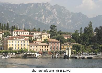 Bellagio dock, Lake Como, Italy.