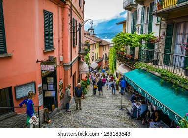 Bellagio, Italy, taken on 31 May 2015, Picturesque small town street view in Bellagio, Lake Como Italy on 31 May 2015