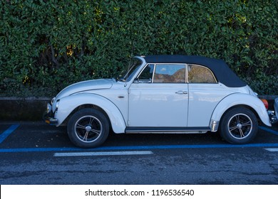 Bellagio, Italy-April 1, 2018: Classic Volkswagon automobile in city of Bellagio, Lombardy