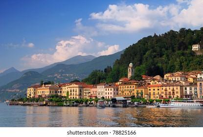 Bellagio peninsula seen from Lake Como