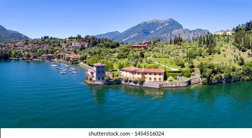 Bellagio - Pescallo - Lake Como (IT) - Park and Villa Serbelloni - Aerial view