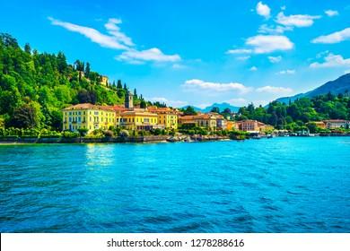 Bellagio town in Como lake district. Italian traditional lake village. Italy, Europe.